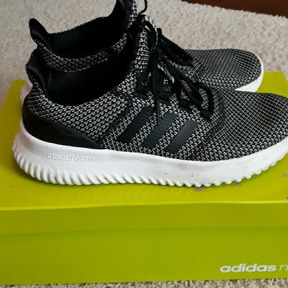 3d1d55522 Adidas Neo Cloudfoam ULTIMATE NEO White Grey Mens Women s Shoes